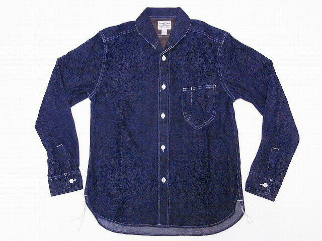 Pherrow's[フェローズ] ワークシャツ 790WS ショールカラー デニム ワークシャツ (ブルーデニム) 送料無料 代引き手数料無料 【RCP】