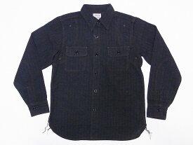 Pherrow's[フェローズ] ワークシャツ 杢ストライプ 16W-770WS-ST (ブラックストライプ) 送料無料 代引き手数料無料 【RCP】