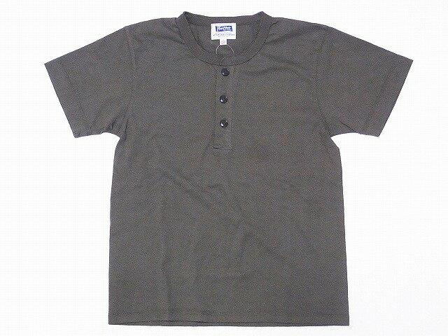 Pherrow's[フェローズ] Tシャツ ヘンリーネックTシャツ 無地 17S-PHNT1 ヘンリーT (オリーブ)