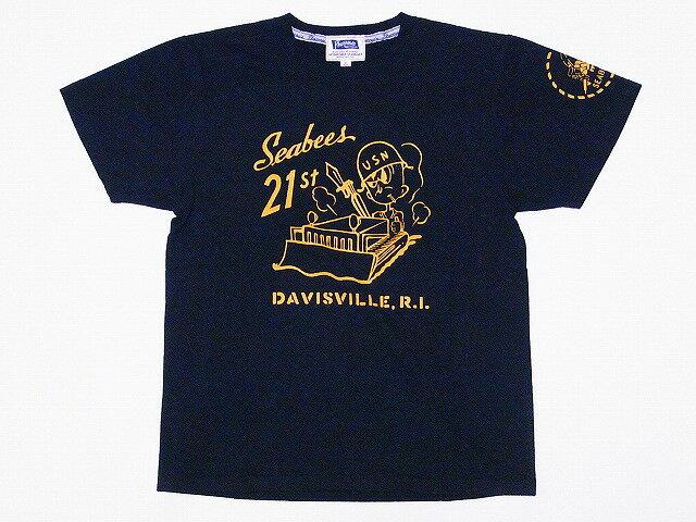 Pherrow's[フェローズ] Tシャツ 17S-PT5 SEABEES (S.ブラック)