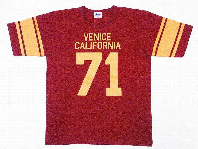 Pherrow's[フェローズ] Tシャツ 18S-PFBT1 フットボールTシャツ (バーガンディー)