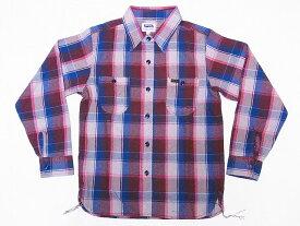 Pherrow's[フェローズ] ネルシャツ 18W-720WS ヘビーフランネル チェック (ベージュ×ブラウン) 送料無料 代引き手数料無料 【RCP】