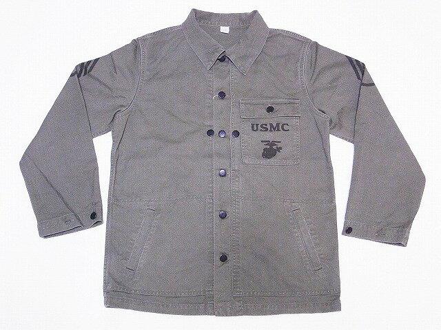 Pherrow's[フェローズ] USMC ジャケット 19S-PMCC1 カバーオール ヘリンボーン U.S.M.C. JACKET (オリーブ) 送料無料 代引き手数料無料 【RCP】