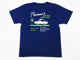 Pherrow's[フェローズ] Tシャツ 19S-PT12 Pherrow's IN & OUT AUTO CARE (G.ネイビー)