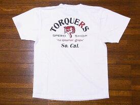 Pherrow's[フェローズ] Tシャツ 19S-PT13 TORQUERS (S.ホワイト)