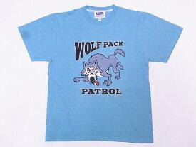 Pherrow's[フェローズ] Tシャツ 19S-PT15 WOLF PACK (モーニングスカイ)