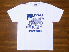 Pherrow's[フェローズ] Tシャツ 19S-PT15 WOLF PACK (ホワイト)