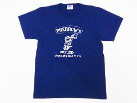 Pherrow's[フェローズ] Tシャツ 19S-PTJ6 DRINK AND BEER CO.,LTD. (G.ネイビー)