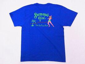 Pherrow's[フェローズ] Tシャツ 19S-PT23 Summer girl (B.ブルー)