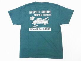 Pherrow's[フェローズ] Tシャツ ポケットTシャツ 19S-PPT4 EVERETT SQUARE ポケT (グリーン)