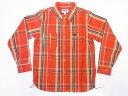 Pherrow's[フェローズ] ネルシャツ 19W-720WS ヘビーフランネル チェック (オレンジ×グリーン) 送料無料 代引き手数…
