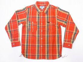 Pherrow's[フェローズ] ネルシャツ 19W-720WS ヘビーフランネル チェック (オレンジ×グリーン) 送料無料 代引き手数料無料 【RCP】
