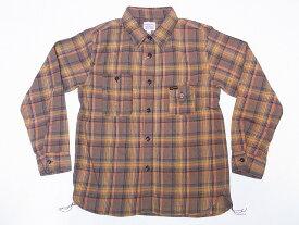 Pherrow's[フェローズ] ネルシャツ 19W-750WS-C ライトフランネル チェック ワークシャツ (ブラウン) 送料無料 代引き手数料無料 【RCP】