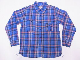 Pherrow's[フェローズ] ネルシャツ 19W-750WS-C ライトフランネル チェック ワークシャツ (サックス) 送料無料 代引き手数料無料 【RCP】