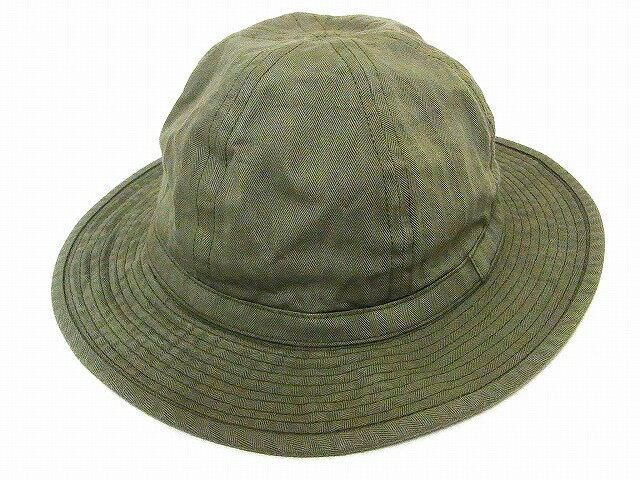 Buzz Rickson's[バズリクソンズ] アーミーハット BR02537 OD ヘリンボーン ハット O.D. HERRINGBONE ARMY HAT (オリーブ) 【RCP】