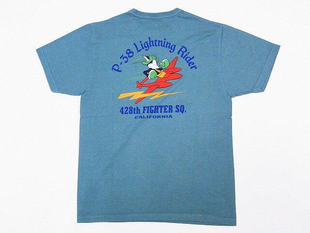 Buzz Rickson's[バズリクソンズ] Tシャツ BR78020 428th FIGHTER SQ. (セージグリーン)