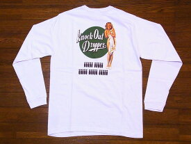 Buzz Rickson's[バズリクソンズ] ロンT BR68082 KNOCK OUT DROPPERS ロングスリーブTシャツ GIL ELVGREN COLLECTION (ホワイト)