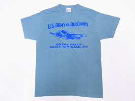 Buzz Rickson's[バズリクソンズ] Tシャツ BR78176 GREAT FALLS ARMY AIR BASE (セージグリーン)