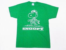 Buzz Rickson's[バズリクソンズ]×PEANUTS[ピーナッツ] Tシャツ スヌーピー BR78126 SNOOPY (ケリーグリーン)