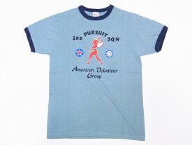 Buzz Rickson's[バズリクソンズ] Tシャツ リンガー BR78178 3rd PURSUIT SQ. リンガーTシャツ (セージグリーン)