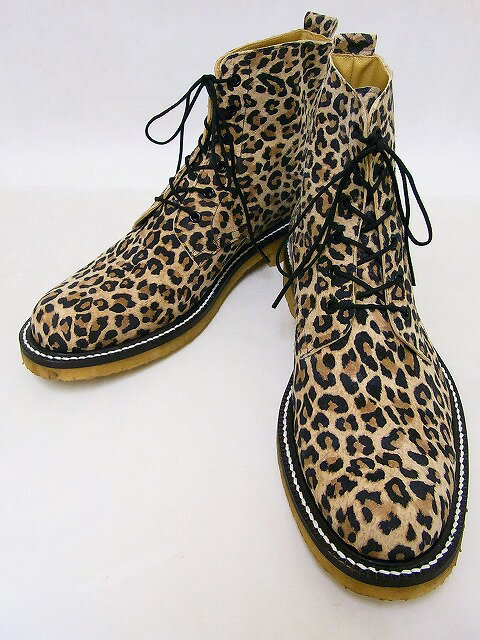 "Dry Bones[ドライボーンズ] ブーツ Lace-Up Boots ""LEOPARD"" レースアップブーツ DSHC-031 (BEIGE) 送料無料 代引き手数料無料 【RCP】"