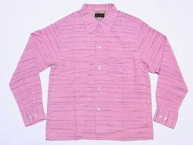 Dry Bones[ドライボーンズ] オープンシャツ 長袖 Border Nep Open Shirt DS-2048 (PINK) 送料無料 代引き手数料無料 【RCP】