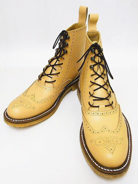Dry Bones[ドライボーンズ] ブーツ Gillie Half Boots ギリーブーツ DSHC-008 (BEIGE) 送料無料 代引き手数料無料 【RCP】