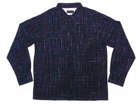 Dry Bones[ドライボーンズ] オープンシャツ DS-2335 長袖 Cross Nep Open Shirt (BLACK) 送料無料 代引き手数料無料 【RCP】