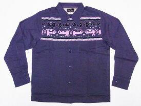 Dry Bones[ドライボーンズ] オープンカラーシャツ DS-2395 AZTEC 長袖 オープンシャツ (グレー) 送料無料 代引き手数料無料 【RCP】