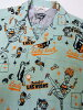 STAR OF HOLLYWOOD[明星of好莱坞]敞领衬衫LAS VEGAS by VINCE RAY短袖SH36948(MINT GREEN)货到付款手续费免费