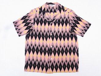 明星的好莱坞 [明星好莱坞,打开衬衫钻石 SH37282 短袖 (粉红色) 现金交货费