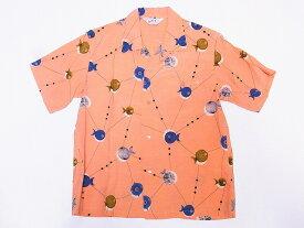 STAR OF HOLLYWOOD[オープンシャツ ATOMIC FISH SH38128 半袖 オープンカラーシャツ (ピンク) 送料無料 代引き手数料無料