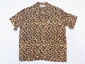 STAR OF HOLLYWOOD[スターオブハリウッド] オープンシャツ LEOPARD SH38380 ヒョウ柄 レオパード 半袖 オープンカラーシャツ (L.ブラウン) 送料無料 代引き手数料無料