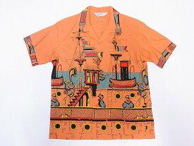 STAR OF HOLLYWOOD[スターオブハリウッド] オープンシャツ SH38392 SEA VOYAGE 半袖 オープンカラーシャツ (オレンジ) 送料無料 代引き手数料無料