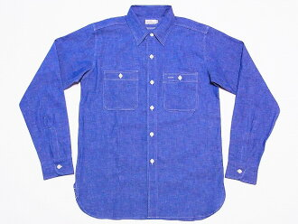 WAREHOUSE [Warehouse] chambray shirt triple stitch long sleeve workshirt 3076 (SAX) cash on delivery fees