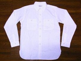 WAREHOUSE[ウエアハウス] シャンブレーシャツ 3076 トリプルステッチ 長袖 白 ワークシャツ (オフホワイト) 送料無料 代引き手数料無料 【RCP】