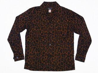 MATTSONS ' [Matt sons] open collar shirt Leopard pattern 65220 JAQUARD LEOPARD OPEN COLLAR SHIRT (Leopard) cash on delivery fees