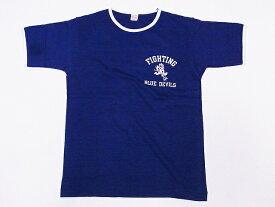 WAREHOUSE[ウエアハウス] Tシャツ リンガー BLUE DEVILS 4059 リンガーTシャツ (ネイビー/クリーム)