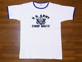 WAREHOUSE[ウエアハウス] Tシャツ リンガー CAMP WHITE 4059 リンガーTシャツ (クリーム/ネイビー)