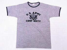 WAREHOUSE[ウエアハウス] Tシャツ リンガー CAMP WHITE 4059 リンガーTシャツ (杢グレー/スミクロ)