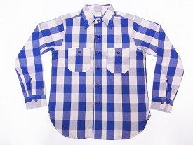 WAREHOUSE[ウエアハウス] ネルシャツ A柄 3104 フランネルシャツ FLANNEL SHIRTS バッファローチェック (ブルー) 送料無料 代引き手数料無料 【RCP】
