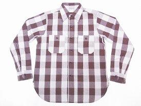 WAREHOUSE[ウエアハウス] ネルシャツ A柄 3104 フランネルシャツ FLANNEL SHIRTS バッファローチェック (ブラウン) 送料無料 代引き手数料無料 【RCP】