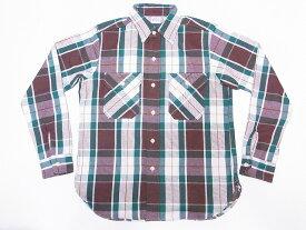 WAREHOUSE[ウエアハウス] ネルシャツ C柄 3104 フランネルシャツ FLANNEL SHIRTS チェック (グリーン) 送料無料 代引き手数料無料 【RCP】