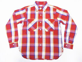 WAREHOUSE[ウエアハウス] ネルシャツ D柄 3104 フランネルシャツ FLANNEL SHIRTS チェック (レッド) 送料無料 代引き手数料無料 【RCP】