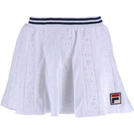 フィラ FILA テニスウェア レディース スコート VL1928 2019SS ホワイト フィラネイビー