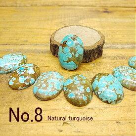 天然ターコイズ【No.8(ナンバーエイト)】ルース【トルコ石】クラフト 材料 彫金 アクセサリー