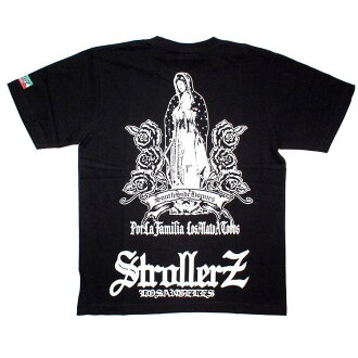 $ 0 shipping West Coast Chicano brand STROLLERZ strollers Guadalupe printed T shirts short sleeve T shirt black x White
