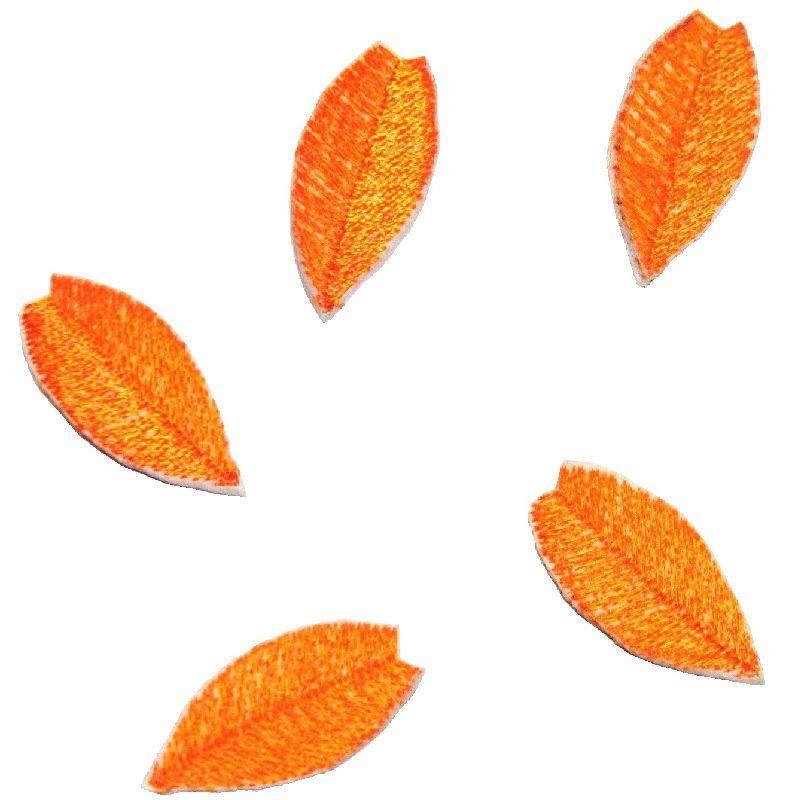 学生服 特攻服 応援団用ワッペン ワッペン 学ラン/短ラン/ボンタン用 桜 桜吹雪 オレンジ