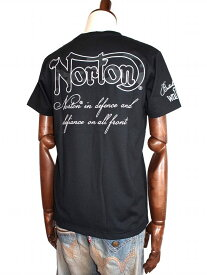 Norton ノートン ノートンモーターサイクル バイカー 迷彩柄 ポケット Vネック 半袖Tシャツ