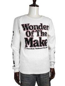 Real Masters リアルマスターズ アメカジ系デザイン 袖プリント サーマルユーズド風プリント ロンT/長袖Tシャツ メンズtシャツ